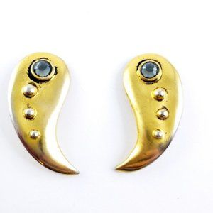 Vintage Ben-Amun Statement Earrings Clip On